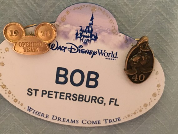 Walt Disney World opening Day Cast Member name tag