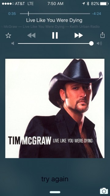 Tim McGraw iTunes screen shot