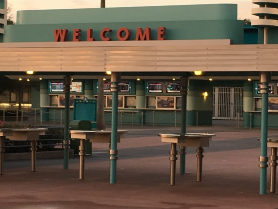 Disney's Hollywood Studios bag check area