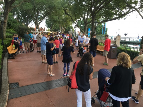 Epcot Early Morning hours rope drop.