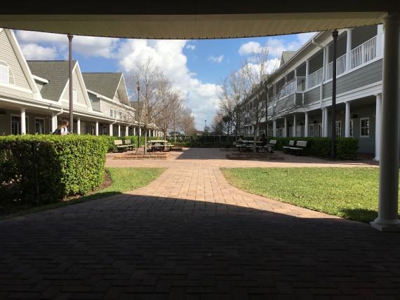 High School courtyard