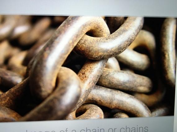 Closeup photo of a chain