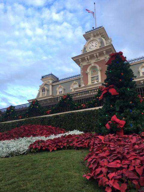 Magic Kingdom Main Entrance photo at Christmas