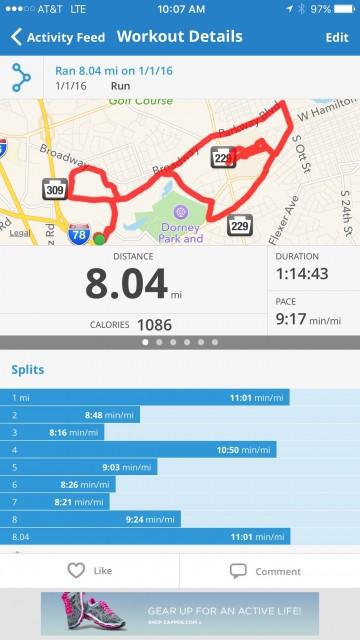 Map My Run screen shot