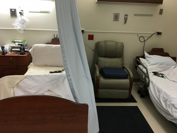Nursing home shared resident room.