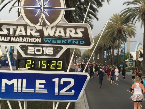 Disneyland Star Tours half-marathon 2016