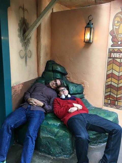 Resting at Disneyland