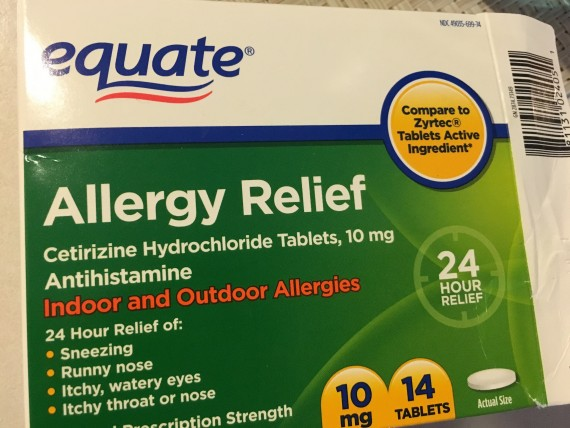 Equate allergy relief medicine package