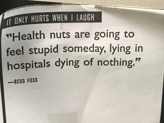 Funny saying about healthy people