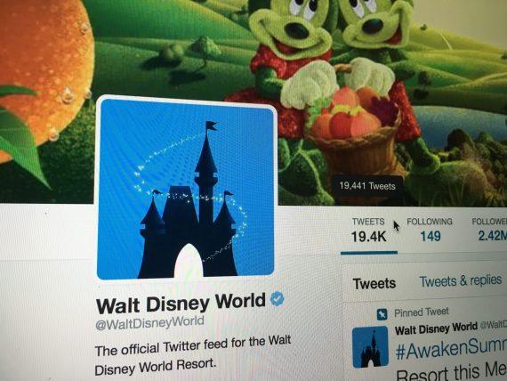 Walt Disnet World Twitter