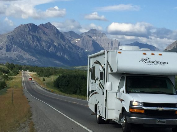 RV travel near Glacier National Park