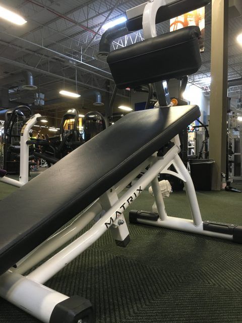 Abdominal incline bench