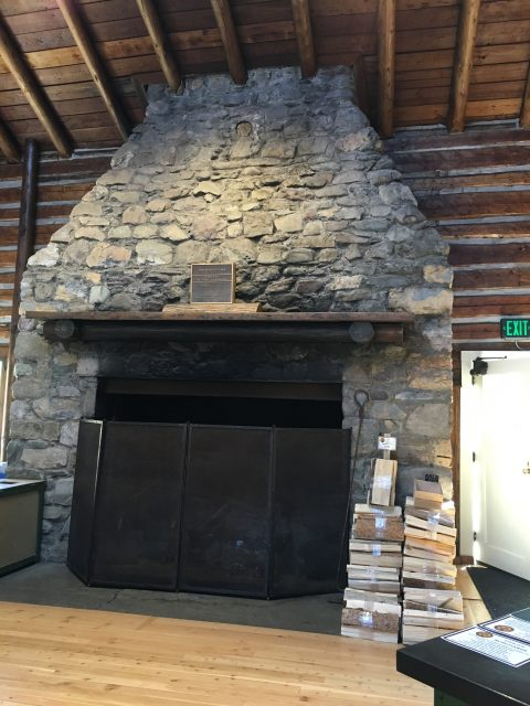 Two Medicine Campground General Store fireplace