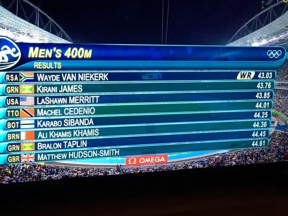 Rio Men's 400 meter final