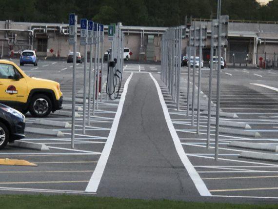 Disney University parking lot