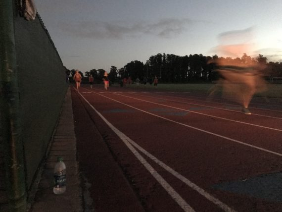 High school track at dawn