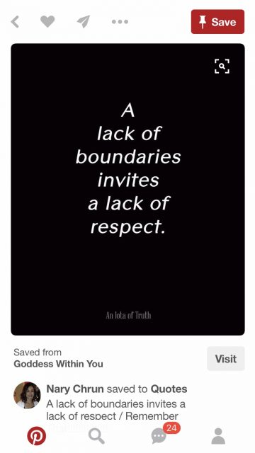 Quote about boundaries and respect