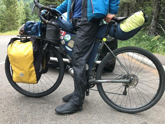 Bicyclist in Glacier NationalPark
