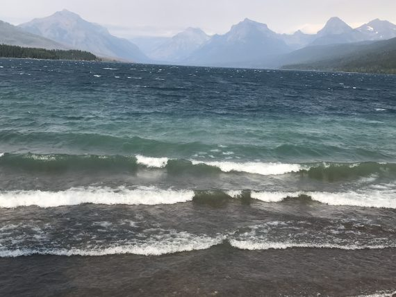 Lake McDonald waves