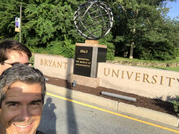Bryant University entrance sign