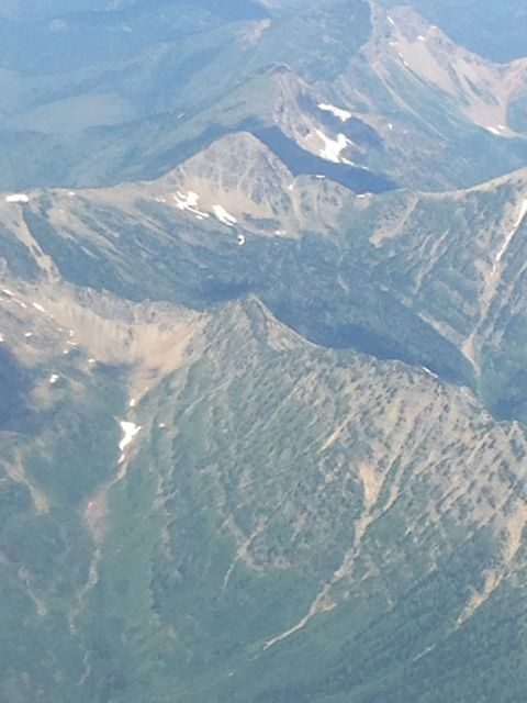 Glacier National Park aerial view.