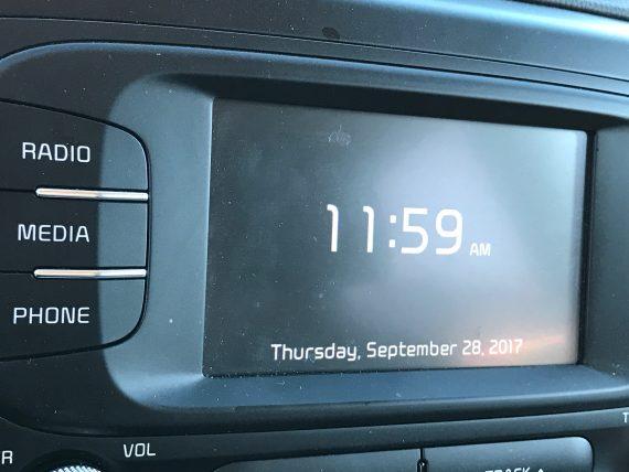 car clock
