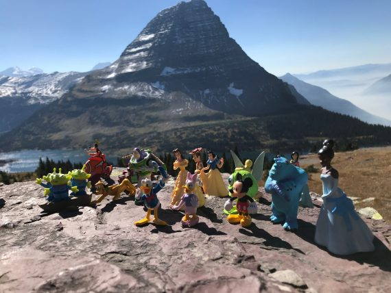 Bearhat Mountain and Disney character