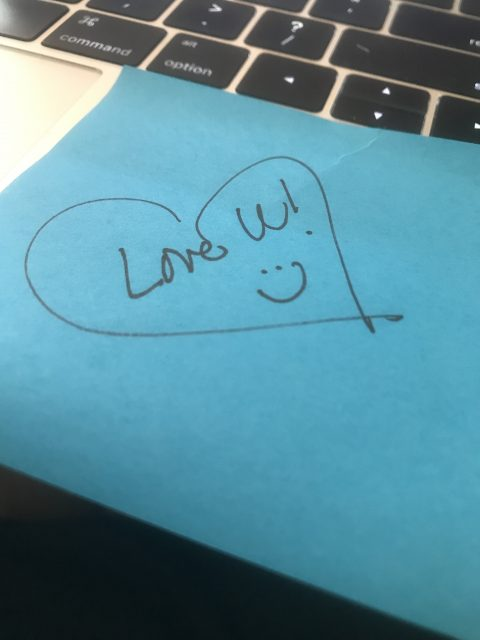 post it note message