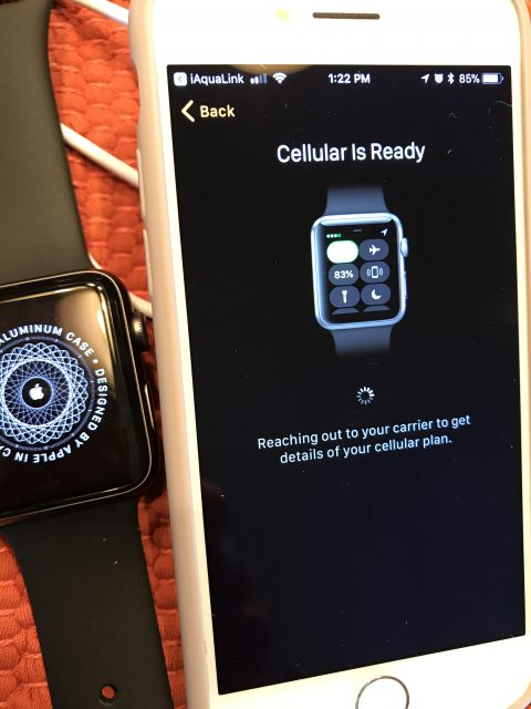 Apple Watch 3 cellular plan