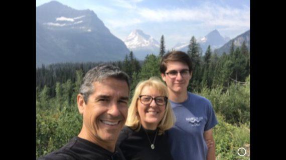 family on Highline trail