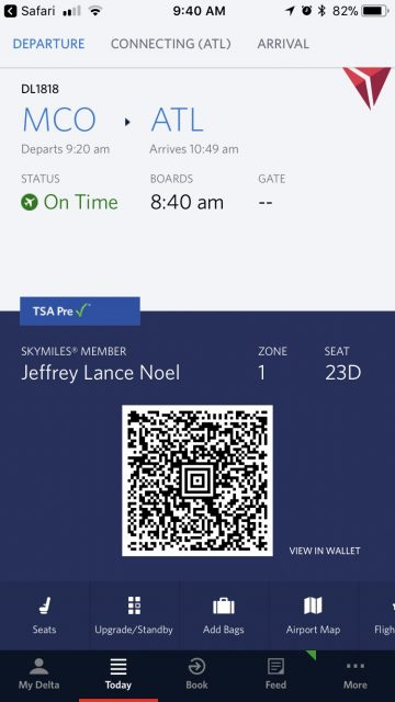 Delta travel app