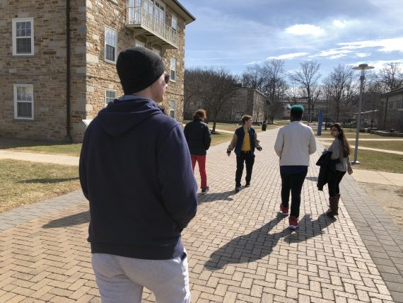 college walking tour