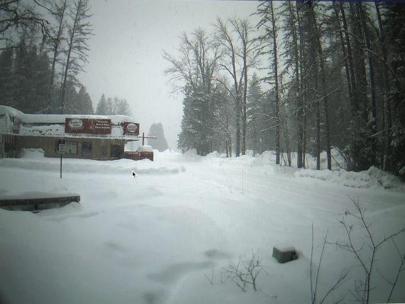 Apgar Village in snow