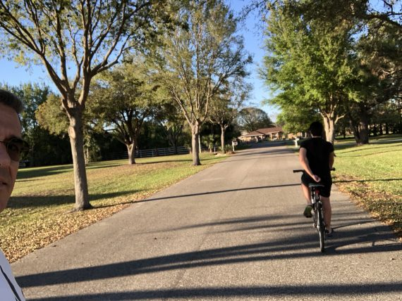 neighborhood bike ride
