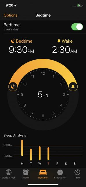 Apple alarm app