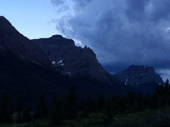 St Mary Lake at dusk