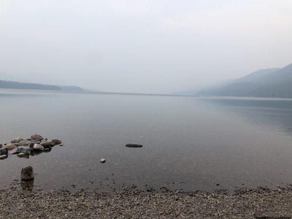 Lake McDonald Howe Ridge Fire smoke