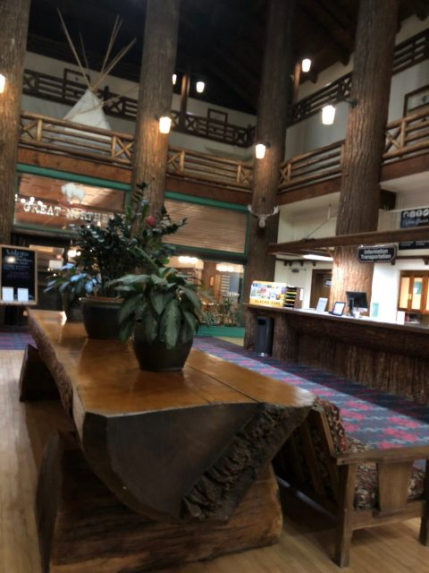 Glacier Park Lodge lobby table