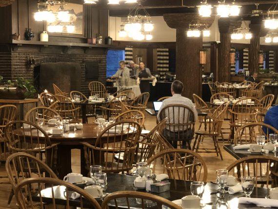 Glacier Park Lodge dining hall