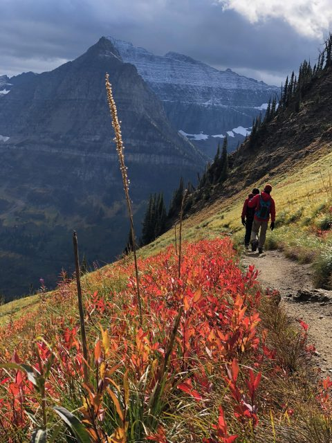 Fall hiking in Glacier