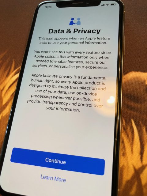 Apple privacy agreement