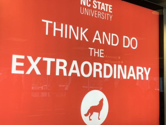 NC State airport ad