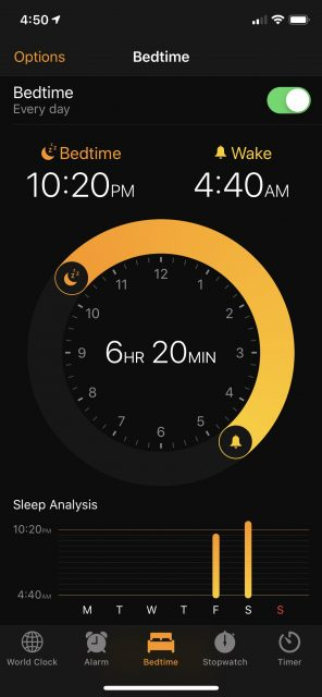 iPhone sleep timer