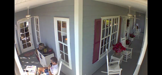 home security camera view