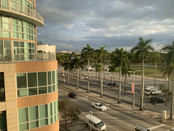 View from Yve hotel in Miami