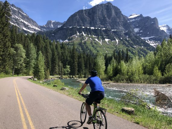 biking Glacier National Park