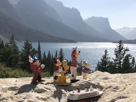 Disney Characters at St Mary Lake