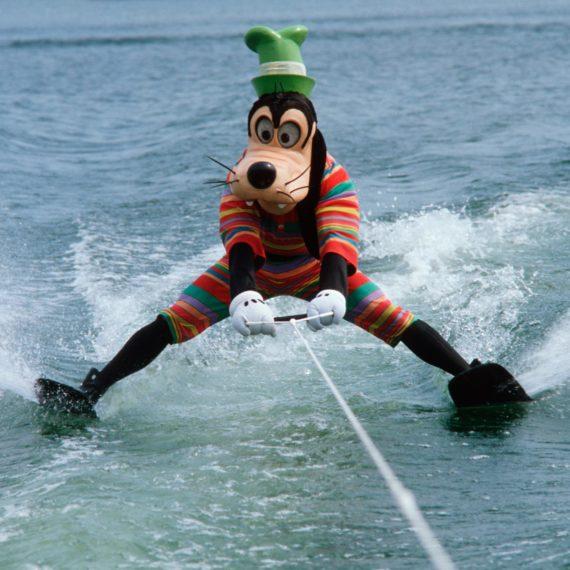 Goofy water skiing