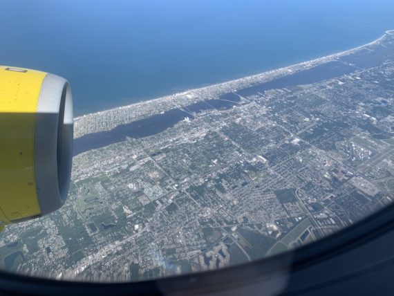 Daytona Beach from plane