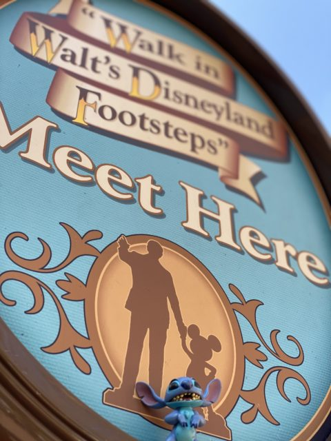 Walk in Walt's Disneyland Footsteps tour sign